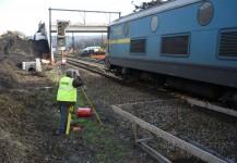 Implantation de voies en gare de Flawinne et Ronet