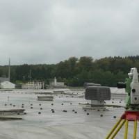 Mesurage de la toiture de l'usine L'OREAL à Libramont